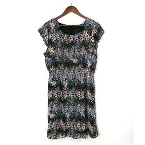 Signature Collection Abstract Floral Print Dress